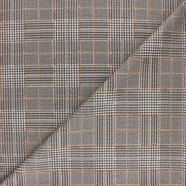 Tissu Jersey Milano à Carreaux Edward - rouge x 10cm