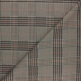 Elastane Crepe fabric - Burgundy Léopard x 10cm
