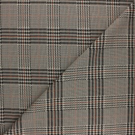 Elastane Crepe fabric - Brown Andrew x 10cm