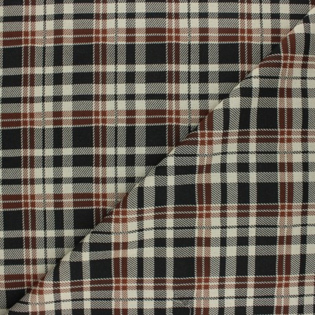 Elastane Crepe fabric - Brown John x 10cm