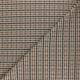 Tissu crêpe élasthanne Pied de Poule Harold - beige x 10cm