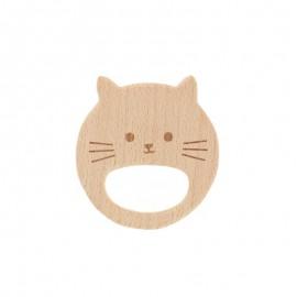 Anneau de dentition bois naturel - chaton