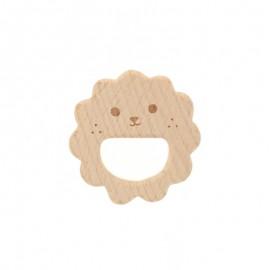 Natural wood teething ring - baby hedgehog