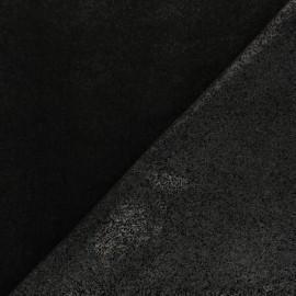 Tissu percale thermocollant - noir x 10cm