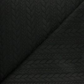 Twist jersey fabric - Black x 10cm