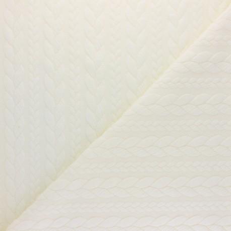 Tissu jersey Torsade - Ecru x 10cm