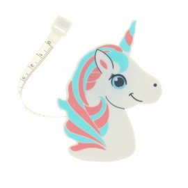 Retractable measure tape Licorne - Coral