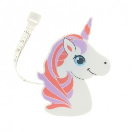 Retractable measure tape Licorne - Purple