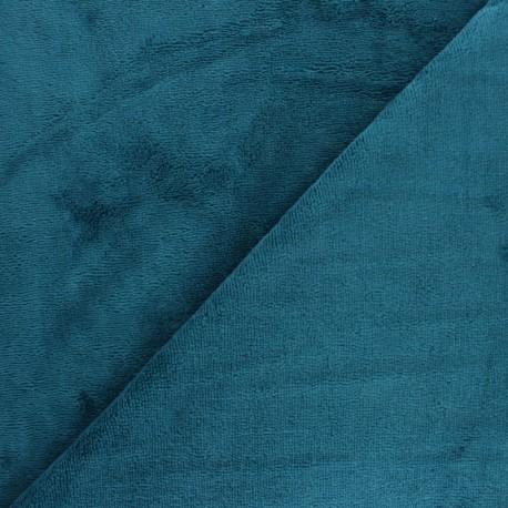 Tissu Micro-éponge Bambou - bleu denim x 10cm