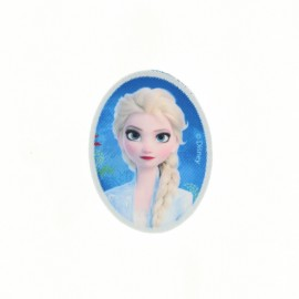 "Canvas oval-shaped Iron-on patch ""Frozen"" - Elsa"