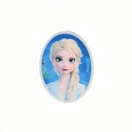 Thermocollant toile ovale La Reine des Neiges - Elsa