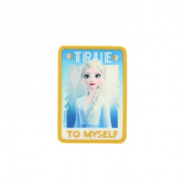"Thermocollant toile rectangle La Reine des Neiges - ""True to myself"""