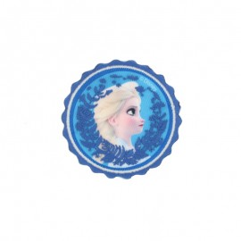 "Canvas round-shaped Iron-on patch ""Frozen"" - Laurel"