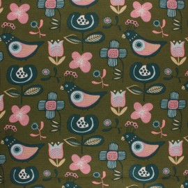 Sweatshirt fabric with minkee - blue Peach x 10cm