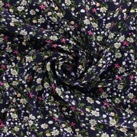 viscose Fabric - Blue wildflower x 10cm