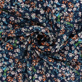 viscose Fabric - Navy Blue Eglantine x 10cm