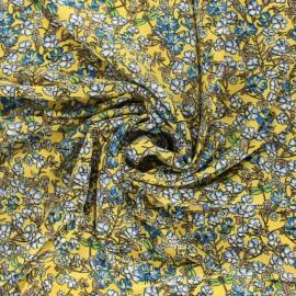 viscose Fabric - Navy Blue Lisette x 10cm