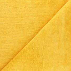 Tissu éponge Bambou - jaune soleil x 10cm