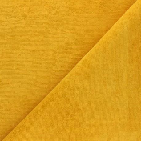 Tissu éponge Bambou - jaune x 10cm