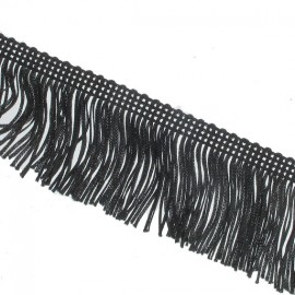 Charleston fringe 5 cm x 50cm - black