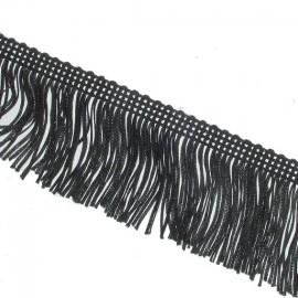 Charleston fringe 5 cm x 50cm - black