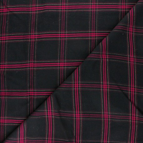 Lurex Viscose fabric - burgundy Dundee x 10cm