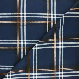 Lurex polyester fabric - Navy blue Carolane x 10cm