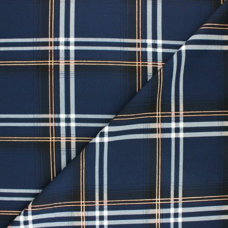 Lurex polyester fabric - rust Carolane x 10cm