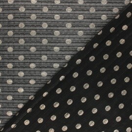 Pleated polyester fabric - black Cosmo-Queen x 10cm