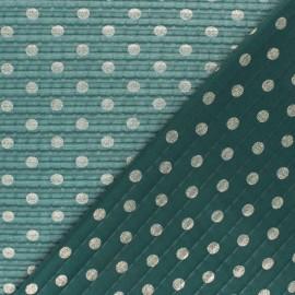 Tissu polyester plissé éclat de lune - vert x 50cm