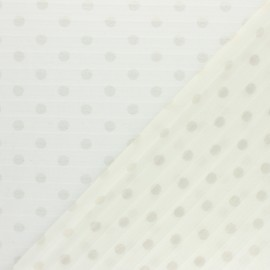 Tissu polyester plissé éclat de lune - écru x 50cm