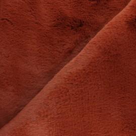 Tissu fourrure Ontario - Blanc cassé x 10cm