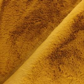 Fur fabric - rust red Ontario x 10 cm