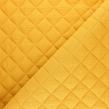 Quilted double gauze cotton fabric - black x 10cm