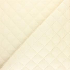 Tissu double gaze matelassé Réversible - Eucalyptus x 10cm