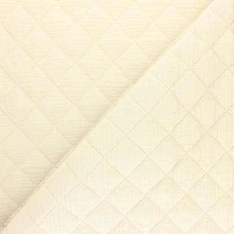 Quilted double gauze cotton fabric - Eucalyptus x 10cm