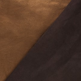 Lambskin Genuine Leather - Golden brown metallic