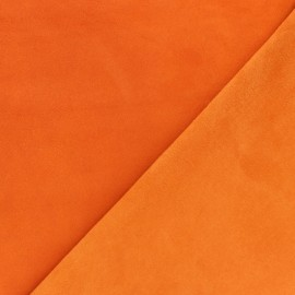 Suede Lambskin Genuine Leather - Pumpkin