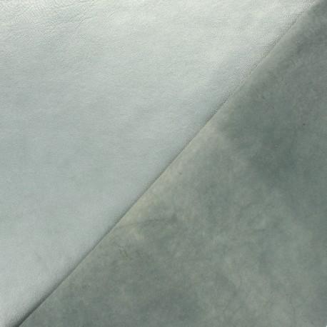 Peau d'Agneau Cuir Véritable Métallisée - Bleu glacier