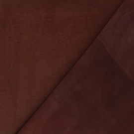Suede Lambskin Genuine Leather - Chocolate