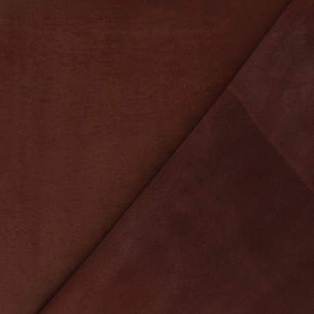 Suede Lambskin Genuine Leather - Chocolate