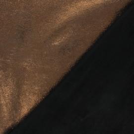 Peau d'Agneau Cuir Véritable Craquelée - Mordoré