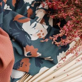Atelier brunetteViscose fabric - Posie Chestnut x 10cm