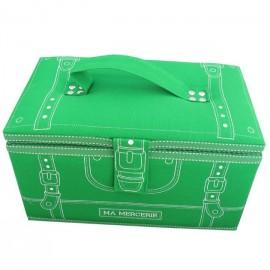 Boîte à couture Ma mercerie vert prairie
