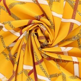 Elastane satin fabric - yellow Giorgia x 10cm