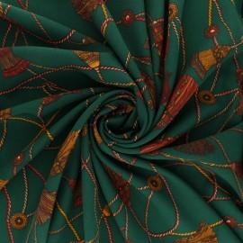 Tissu crêpe Giovanni - vert x 10cm
