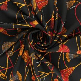 Tissu crêpe Giovanni - noir x 10cm