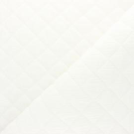 Tissu double gaze matelassé Réversible - blanc x 10cm