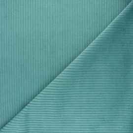 Tissu velours grosses côtes canard x10cm