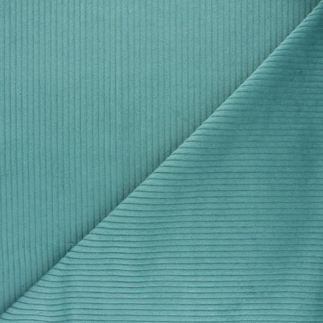 Thick ribbed velvet fabric - aero x10cm